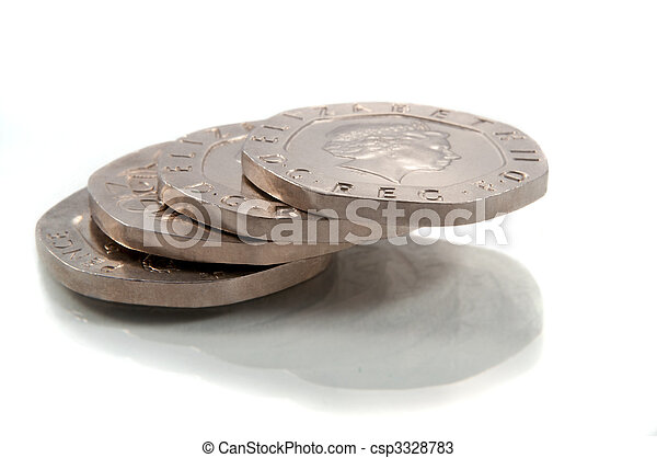 Twenty pence stack. - csp3328783