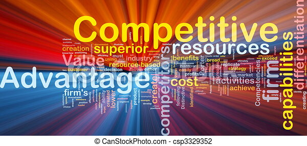 Competitive advantage background concept glowing - csp3329352