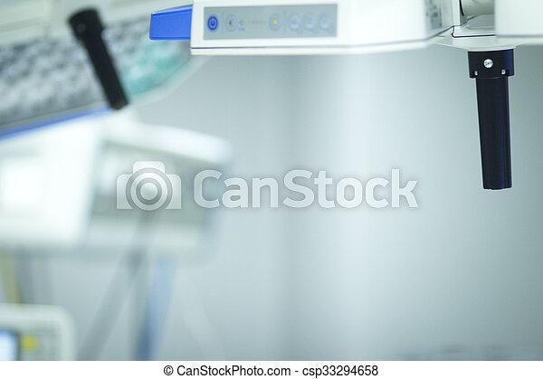 Hospital surgery emergency operating room light photo.