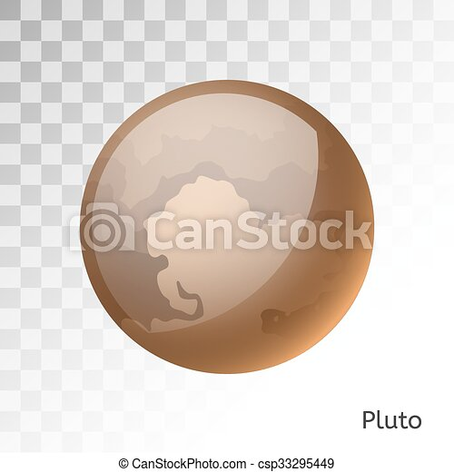EPS Vector of Pluto planet 3d vector illustration. Globe ...