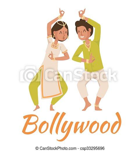Indian Bollywood couple dancing  - csp33295696