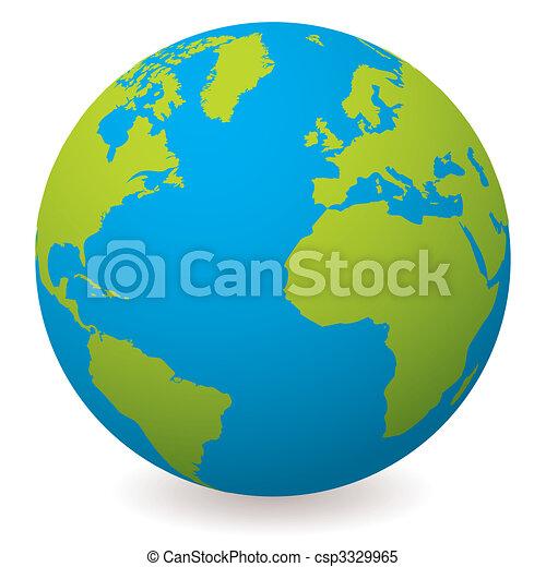 natural earth globe - csp3329965