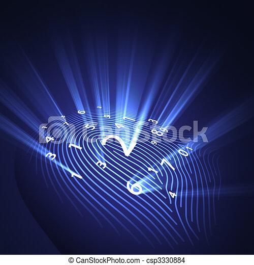 Fingerprint Security Digital - csp3330884