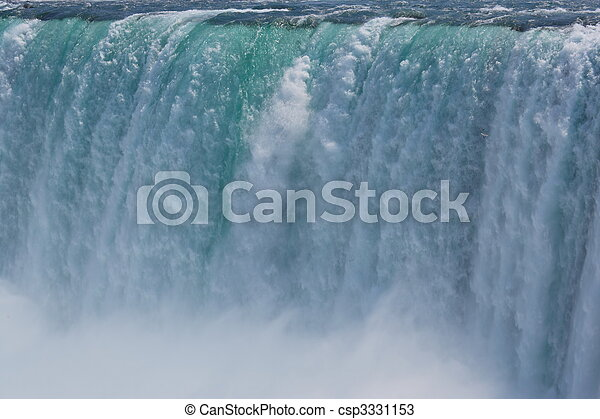 Impressive Niagra waterfalls seen from canadian side. - csp3331153