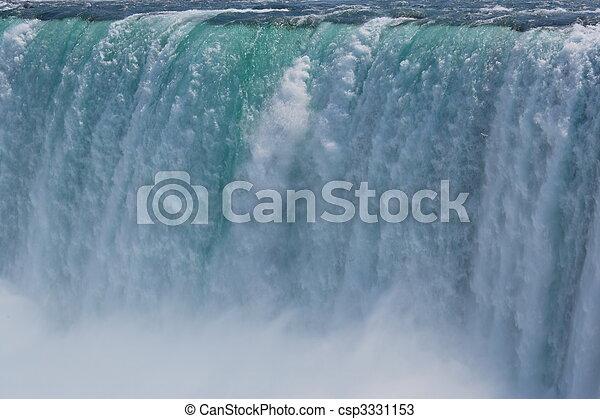 Impressive Niagra waterfalls seen from canadian side. - csp3331153