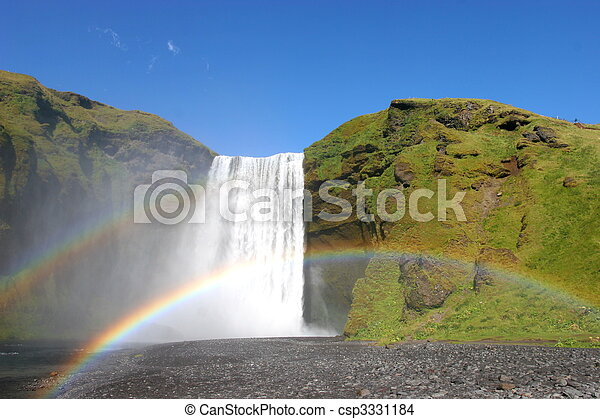 One of the many waterfalls on Iceland - csp3331184