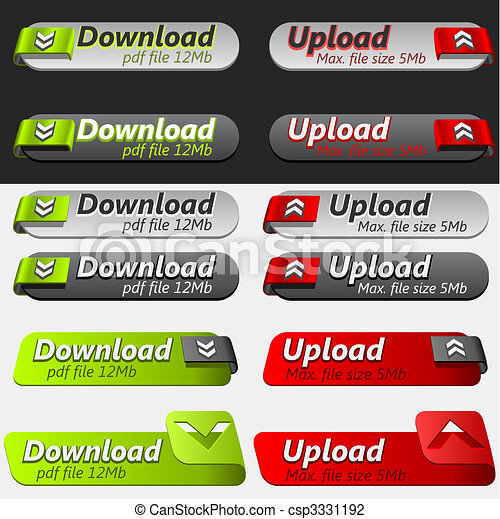 Upload and Download Button Set - csp3331192