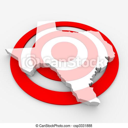 Target Texas - Marketing Concept - csp3331888
