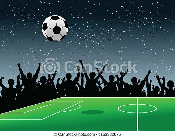 Soccer pitch - csp3332875