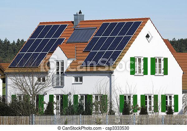 Alternative energy house - csp3333530