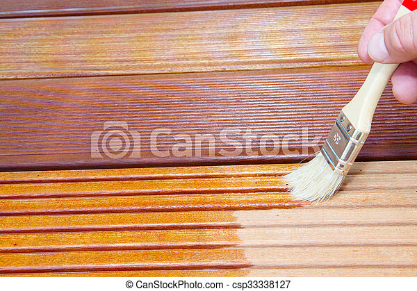 stock photo of bangkirai oils boards csp33338127 search stock photography pictures images. Black Bedroom Furniture Sets. Home Design Ideas