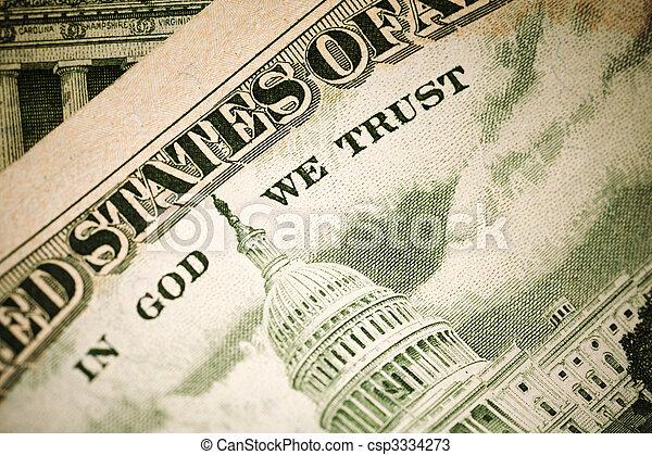 IN GOD WE TRUST - csp3334273