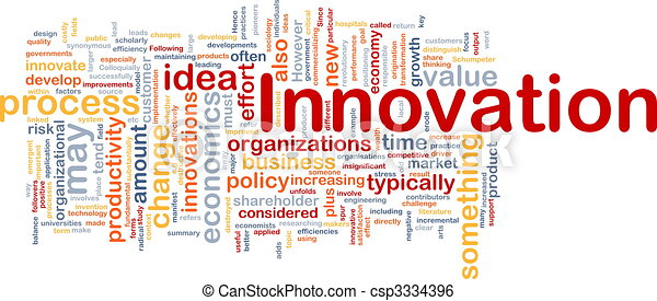 Innovation business background concept - csp3334396
