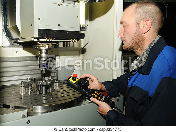 remote control of the milling machine - csp3334775