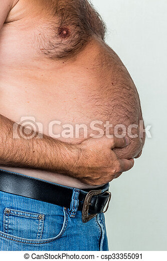 man with overweight. photo icon for beer belly, unsuccessful diets and poor diet