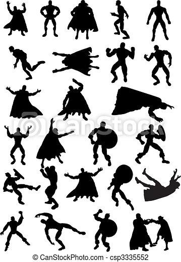 Superhero Silhouettes - csp3335552
