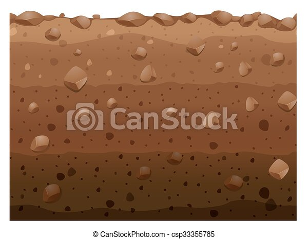 Clip Art Soil Clipart vector of different layers soil illustration csp33355785 csp33355785