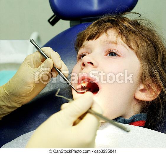 at a dentist examination - csp3335841