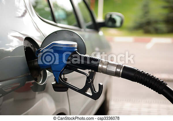 fuel filling at gas station - csp3336078