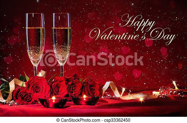 valentines, Dia, fundo - csp33362450