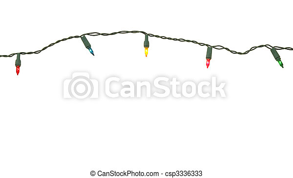 String of christmas lights isolated - csp3336333