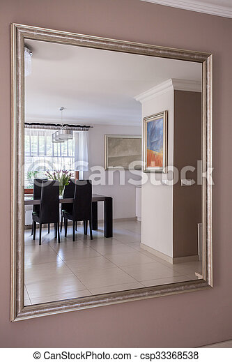Reflection in the mirror - csp33368538