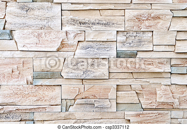 brick stone exterior and interior decoration building material for wall finishing - csp3337112