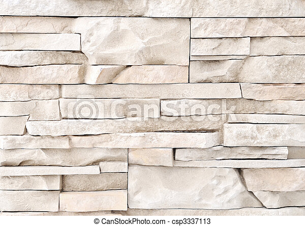 brick stone exterior and interior decoration building material for wall finishing - csp3337113