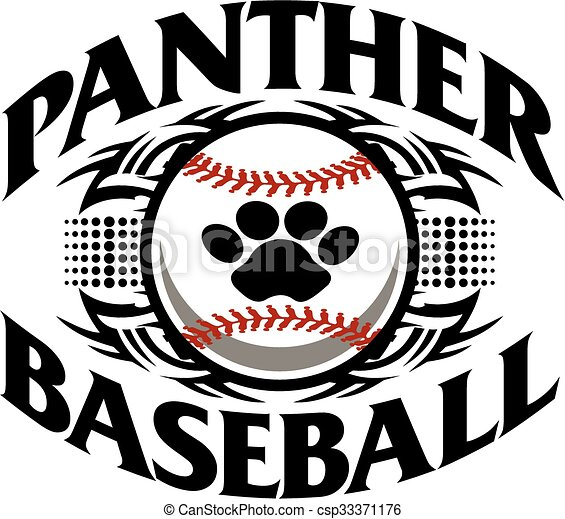 panther baseball team design with... csp33371176 - Search Clipart ...
