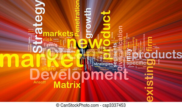 Market development background concept glowing - csp3337453