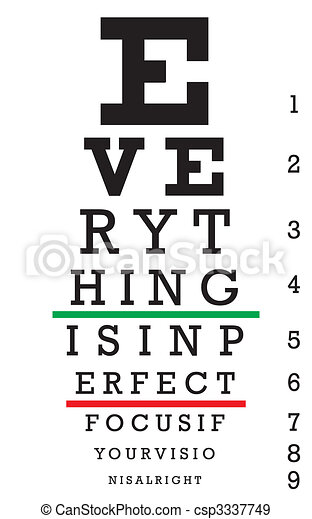 Optometry Eye Chart Illustration - csp3337749