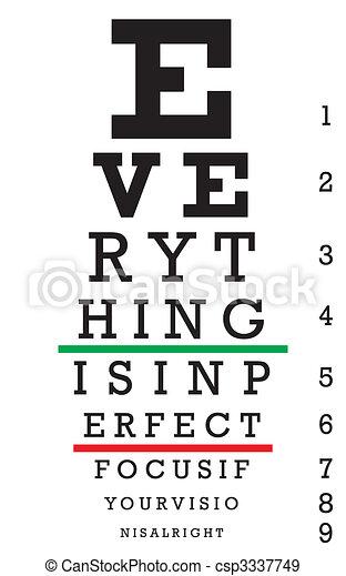 Optometry Eye Chart Illustration - csp3337749