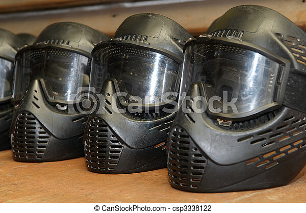Paintball protective mask - csp3338122