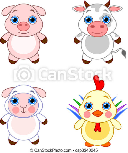 Cute animals set 03 - csp3340245