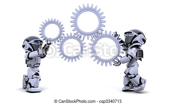 robot with gear mechanism - csp3340713