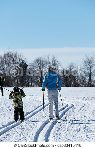 winter sports cross-country skiing, icon sports, winter holidays, leisure, activity