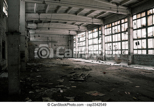 Abandoned Industrial interior - csp3342549