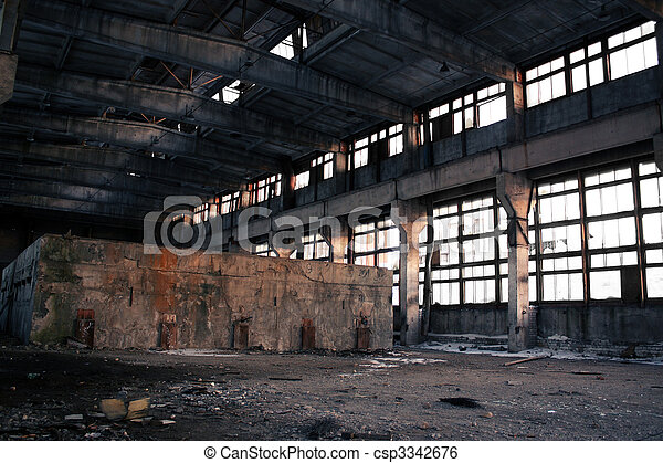 Abandoned Industrial interior - csp3342676