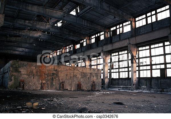 Abandoned Industrial interior - csp3342676