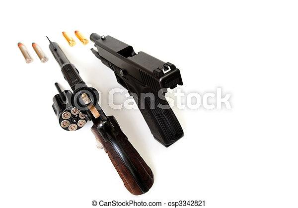 Revolver And Pistol - csp3342821
