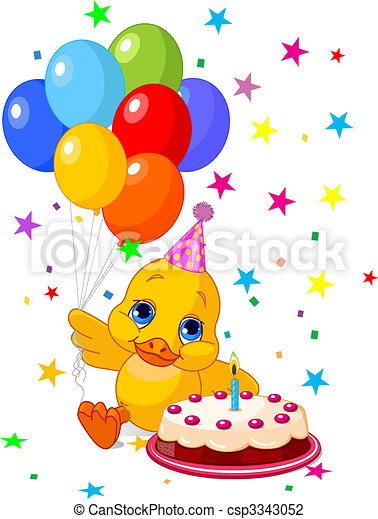 Vector - Duckling's, cumpleaños - stock de ilustracion, ilustracion ...