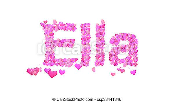 Ella Heart Clip Art