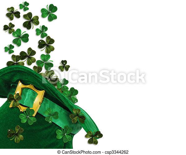 Clip Art of St Patricks Day shamrocks - 3D Illustration for St ...