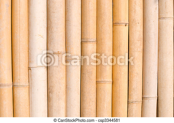 bamboo texture, architecture decoration in asia. - csp3344581