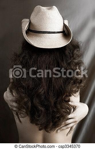 Chica Bikini Llevaba Sombrero De Vaquero Fotos,