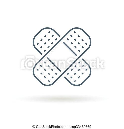 Bandaid icon on white background - csp33460669