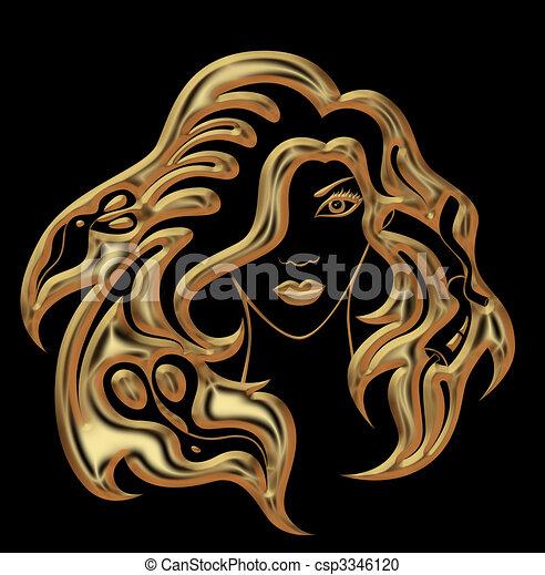 hairdressing accessories - csp3346120