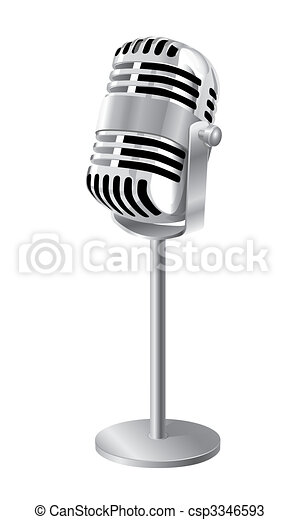Microphone With Stand Drawing Drawings of Ret...
