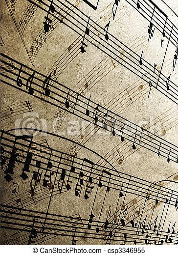 sheet music - csp3346955