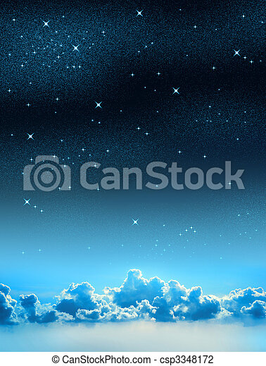étoilé, ciel - csp3348172